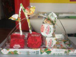 Cestinha de frutas <br/>Cá está ela, a nossa cestinha elaborada por todos os alunos do pré-escolar.